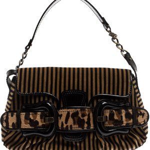 FENDI LIMITED EDITION Velvet Striped Bag